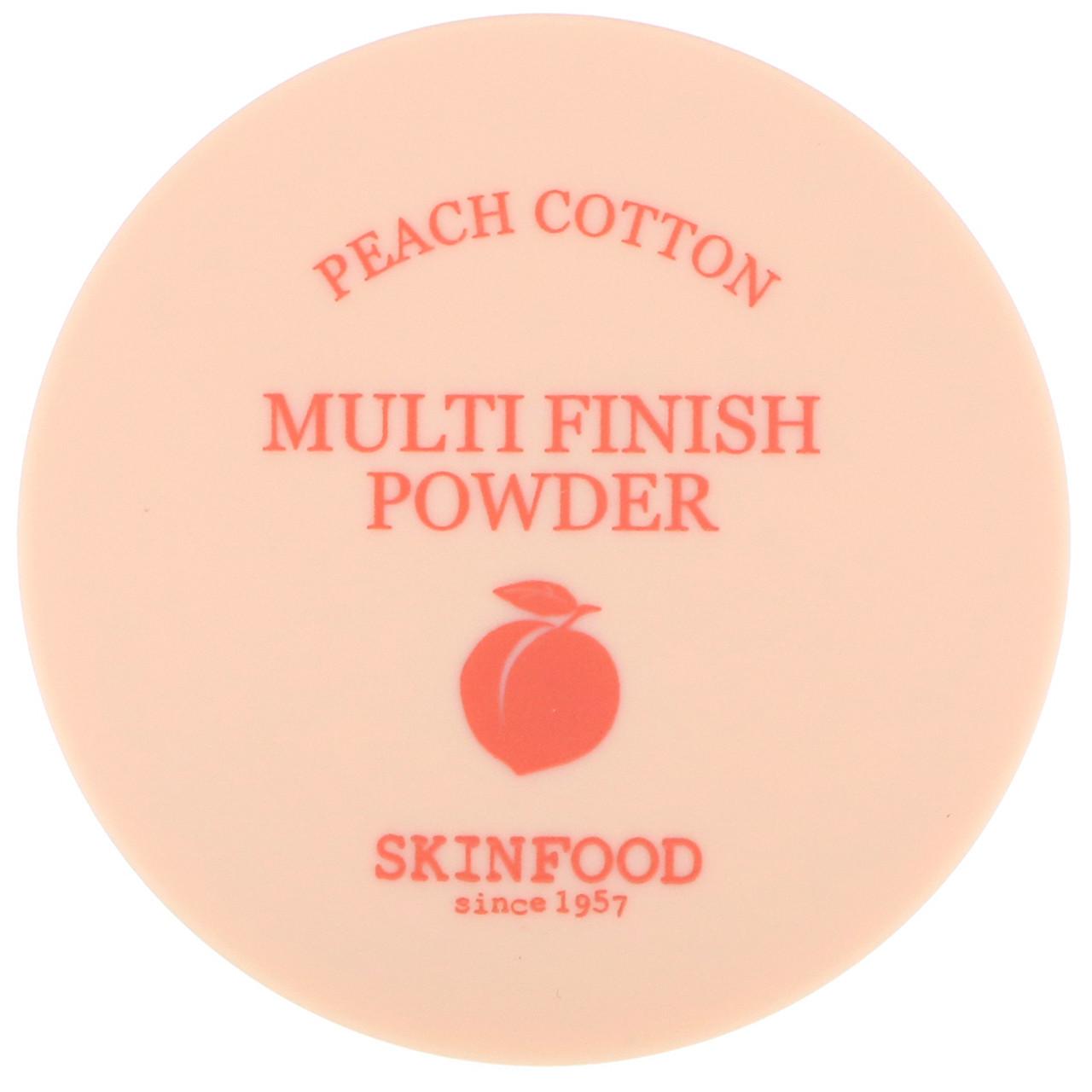 Рассыпчатая финишная пудра Skinfood Peach Cotton Multi Finish Powder