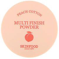 Рассыпчатая финишная пудра Skinfood Peach Cotton Multi Finish Powder, фото 1