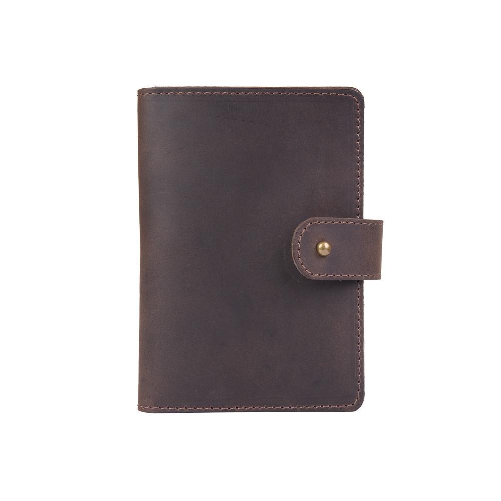 Кожаное портмоне для паспорта / ID документов HiArt PB-02/1 Shabby Gavana Brown