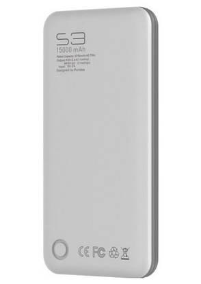 УМБ PURIDEA S3 15000 mAh Li-Pol Білий Сірий, фото 2