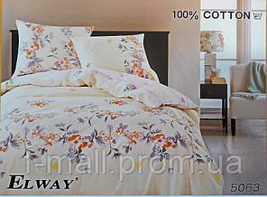 Комплект постельного белья ELWAY (Польша) Сатин семейный (5063)