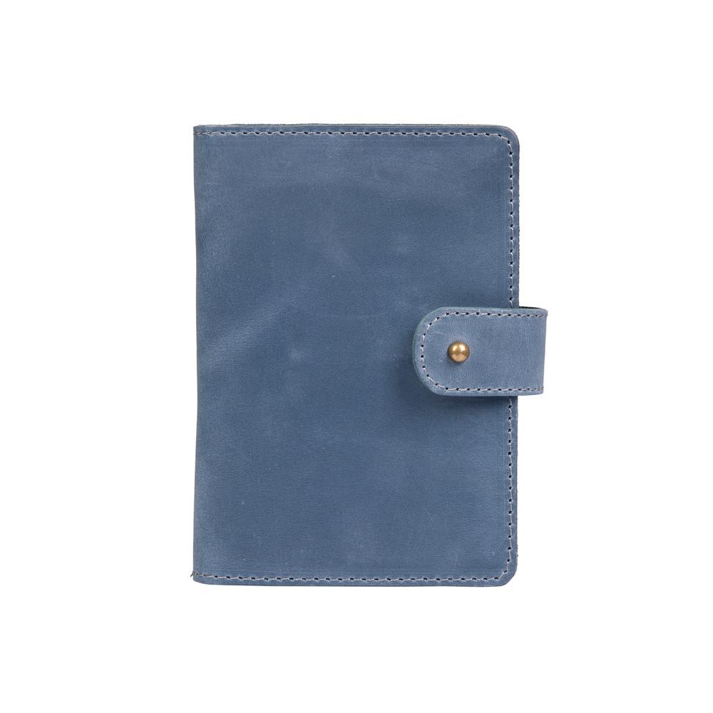 Кожаное портмоне для паспорта / ID документов HiArt PB-02/1 Shabby Lagoon