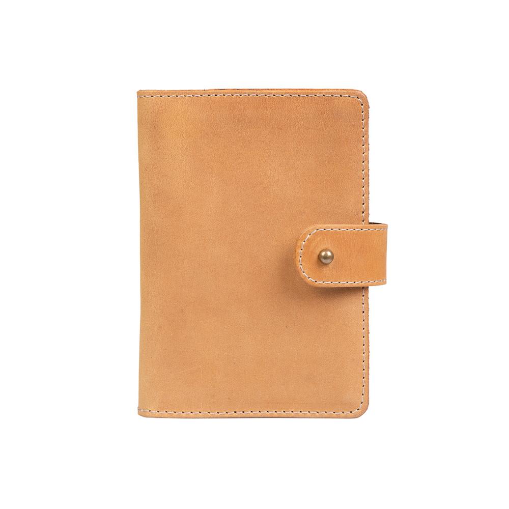 Кожаное портмоне для паспорта / ID документов HiArt PB-02/1 Shabby Honey