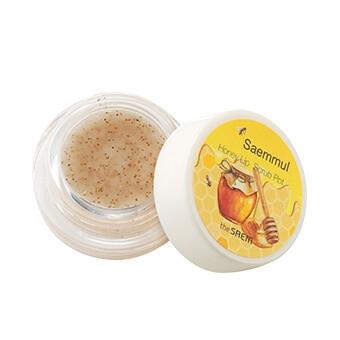 Ароматный медовый скраб для губ The Saem Saemmul Honey Lip Scrub Pot