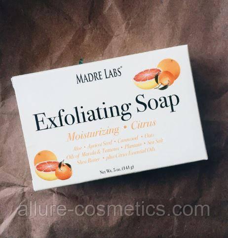 Madre Labs exfoliating soap мыло скраб отшелушивающее с маслом ши, марулы и таману