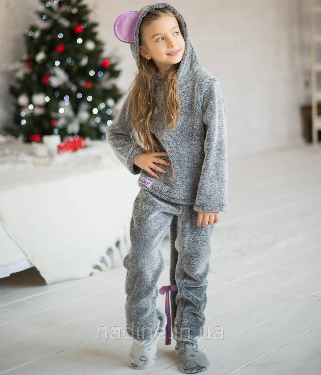 Детская пижама Мышка Eirena Nadine (723-34) символ года на рост 134Серая