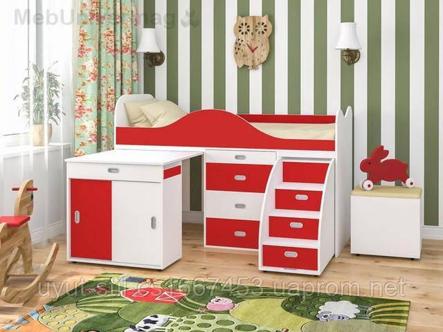 Детская двухъярусная кровать чердак ДМО 47