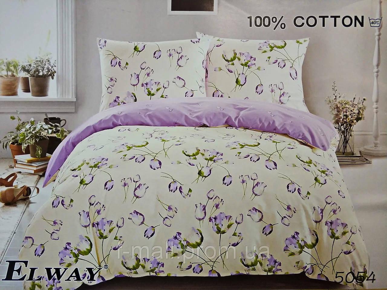 Комплект постельного белья ELWAY (Польша) Сатин семейный (5054)
