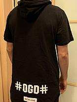 Удлиненная футболка с капюшоном DGD Dark Tide, фото 2