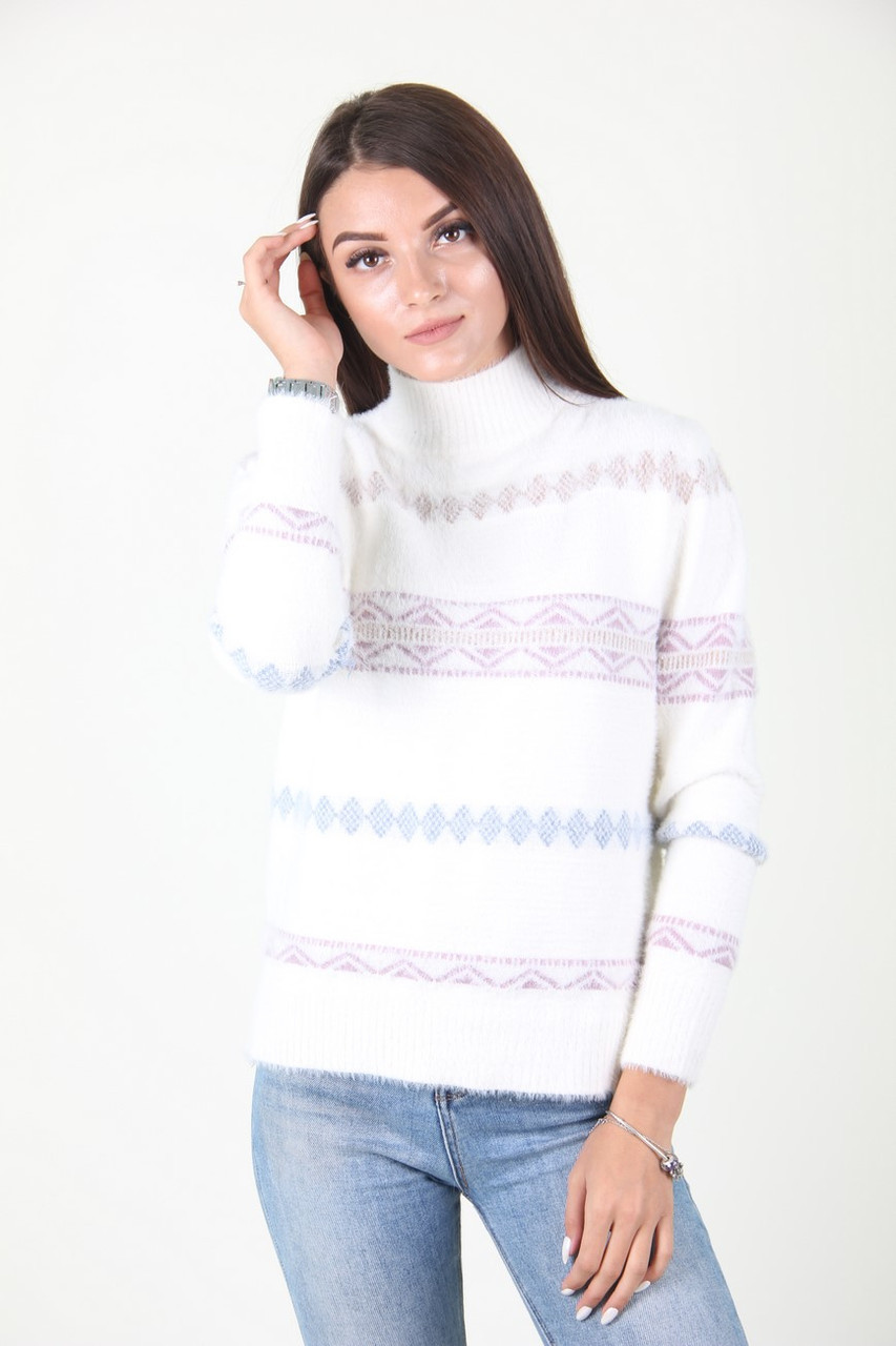 Кофта женская LadiesFashion 53-4 (Белый M/L)