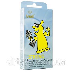 Сверхпрочные презервативы AMOR STRONG, 12 шт.