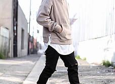Удлиненная гетто swag футболка с закругленным низом оверсайз oversize Kenny West, фото 3