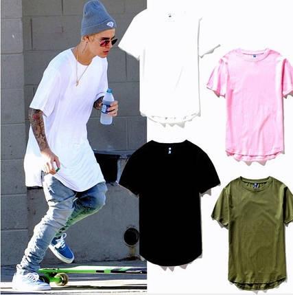 Удлиненная гетто swag футболка с закругленным низом оверсайз oversize Kenny West, фото 2