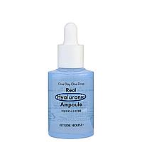 Увлажняющая ампульная сыворотка для лица с гиалуроновой кислотой Etude House One Day One Drop Real Hyaluronic Ampoule 30 мл (8809587384761)