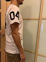 Белая  Гетто футболка с номером NPC 04, фото 2