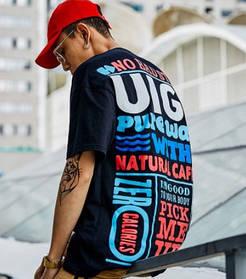 Широкая футболка с принтом Swag Хип-Хоп