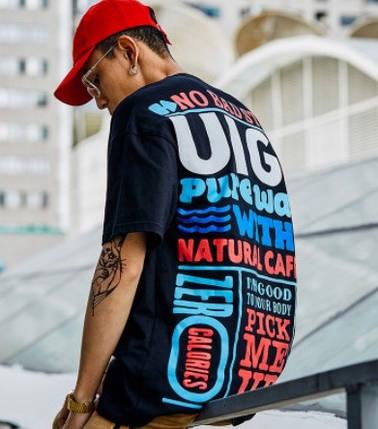 Широкая футболка с принтом Swag Хип-Хоп, фото 2