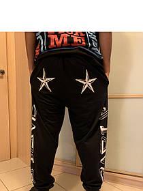 Ghettо Goth Black Geometry  Swag штаны со звездами