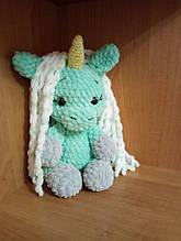 В'язана іграшка плюшева поні-єдиноріг единорожка