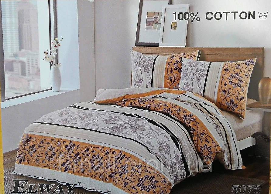 Комплект постельного белья ELWAY (Польша) Сатин семейный (5076)