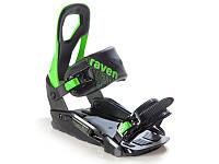 Кріплення для сноуборду Raven S200 Black Green 2020, фото 1