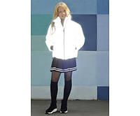Куртка серая рефлективная из светоотражающей плащевки на девочку-подростка рост 134-176