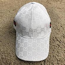 Кепка Baseball Hat Gucci Web GG Supreme White