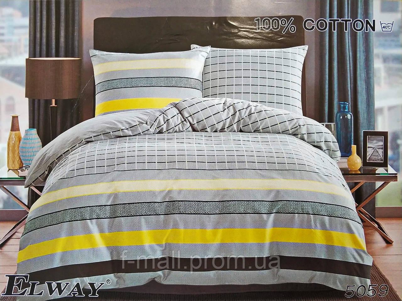 Комплект постельного белья ELWAY (Польша) Сатин семейный (5059)
