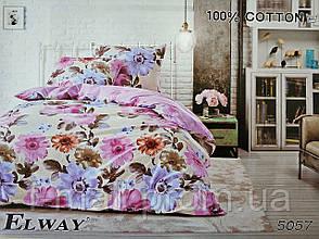 Комплект постельного белья ELWAY (Польша) Сатин евро (5057)
