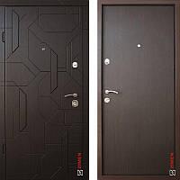 Дверь входная металлическая ZIMEN Alcor l Шпон Дуб ноче  l Optima Plus