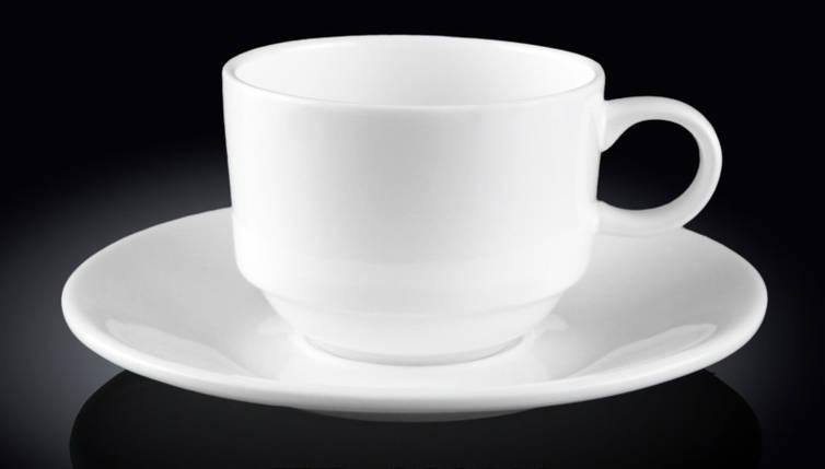 Чашка фарфоровая для кофе+блюдце WILMAX WL-993039 140 мл, фото 2