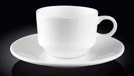 Чашка фарфоровая для кофе+блюдце WILMAX WL-993039 140 мл