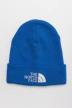 Зимняя мужская шапка голубая THE NORTH FACE