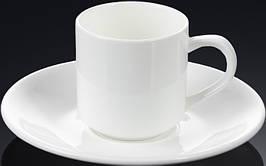 Чашка фарфоровая для кофе+блюдце WILMAX WL-993007 90 мл