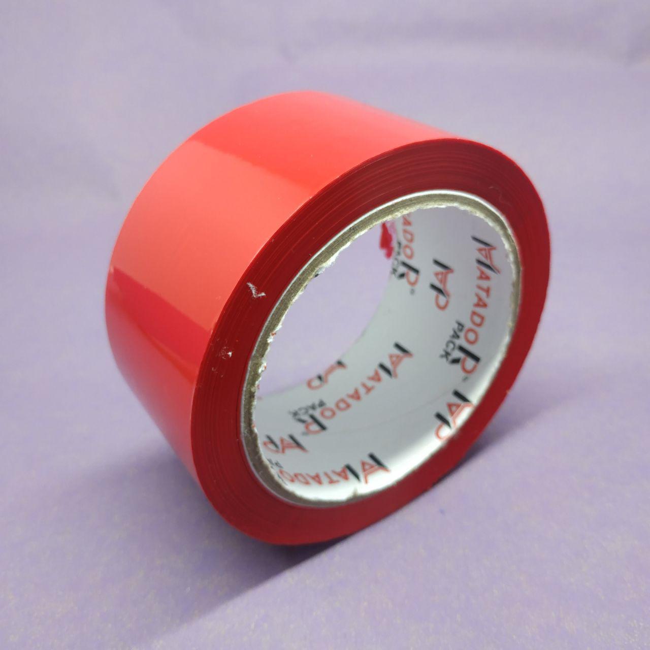 Скотч упаковочный красный Matador — длинна — 100 м, ширина — 48 мм, упаковка — 6 шт