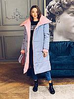 Женское двухстороннее пальто (3 цвета), фото 1