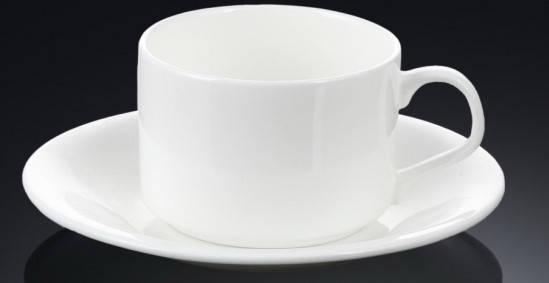 Чашка фарфоровая для чая+блюдце WILMAX WL-993006 160 мл, фото 2
