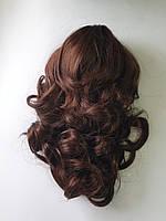 Шиньон на крабе волнистый, длина до 35 см, цвет медно-каштановый