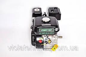 Двигатель бензиновый GrunWelt GW170F-T/25 NEW Евро 5 (шлицы 25 мм, 7.0 л.с.), фото 2