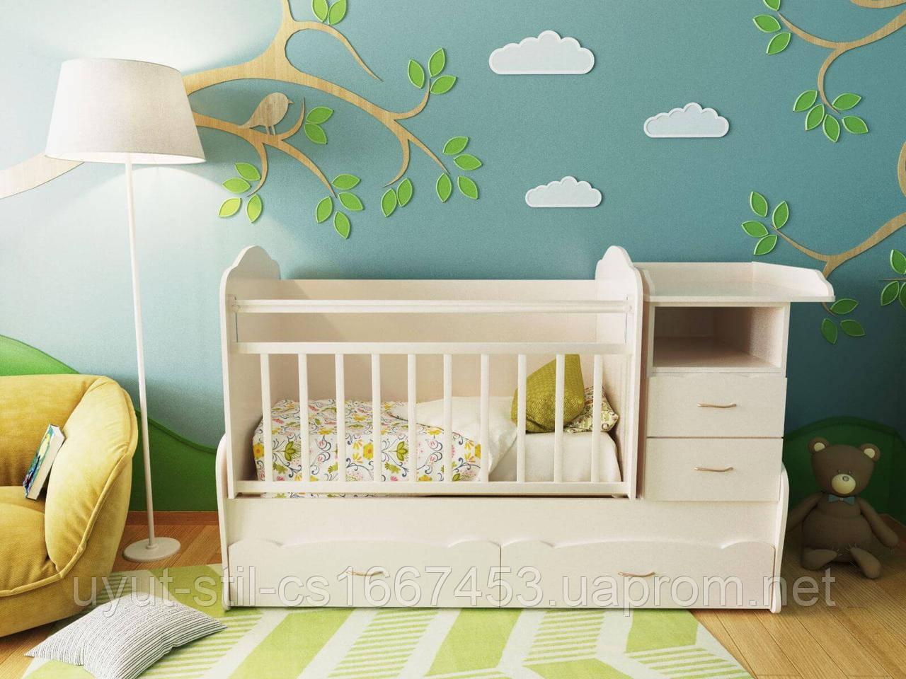Детская кроватка для новорожденного ДМ-043.