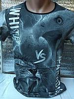 Мужская футболка 3д Турция оптом черный