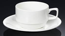 Чашка фарфоровая для чая+блюдце WILMAX WL-993008 220 мл