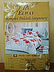 Комплект постельного белья ELWAY (Польша) Сатин евро (5019), фото 3