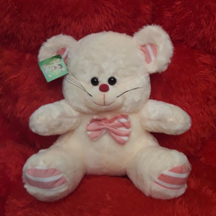 Мягкая плюшевая игрушка 35см Мышка (кремовая)1