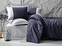 Комплект постільної білизни євро Cotton Box Plain Sport Lacivert Gri, фото 1
