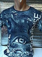 Мужская футболка 3д Турция оптом синий