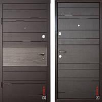 Дверь входная металлическая ZIMEN Tira l Венге Темный l Optima Plus
