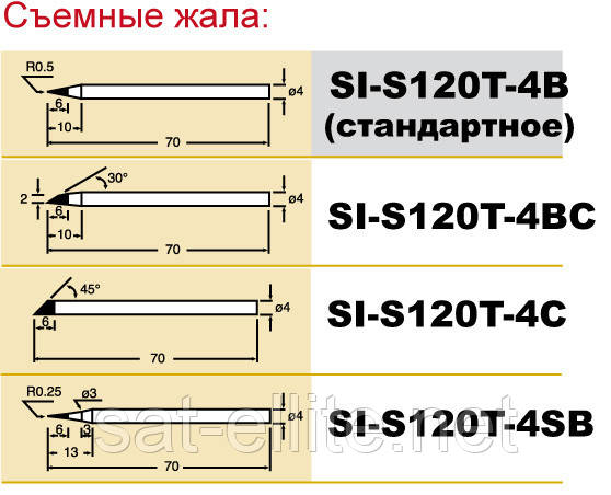 Жало Pro'sKit SI-S120T-4BС срез - Sat-ELLITE.Net в Киеве