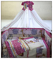 Комплект для детской кроватки.Весёлая Африка