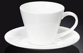 Чашка фарфоровая для чая+блюдце WILMAX WL-993004 180 мл